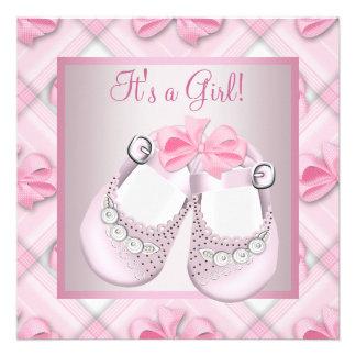 Ducha rosada rosada de la niña de los zapatos de b comunicados personales