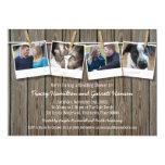 Ducha rústica del boda de la foto de la cuerda invitación 12,7 x 17,8 cm