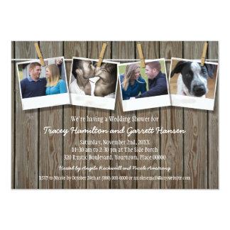 Ducha rústica del boda de la foto de la cuerda comunicado