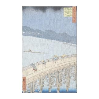 Ducha súbita en el puente de Ohashi en Ataka Impresion En Lona