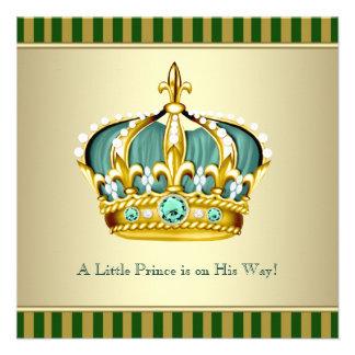 Ducha verde del bebé del Príncipe heredero del oro Anuncio