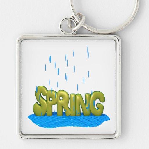 Duchas 2 de la primavera llaveros personalizados
