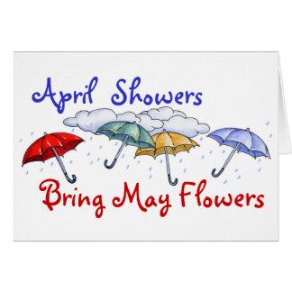 Duchas de abril - tarjeta