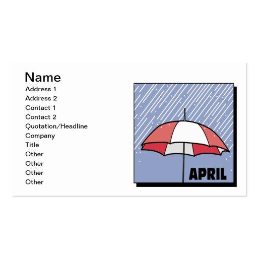 Duchas de abril tarjetas de visita