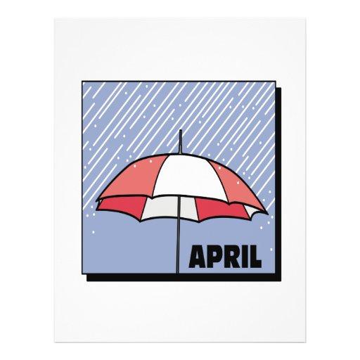 Duchas de abril tarjeton