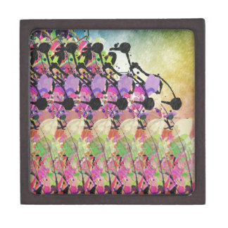 Duchas de Sun en las flores Cajas De Recuerdo De Calidad