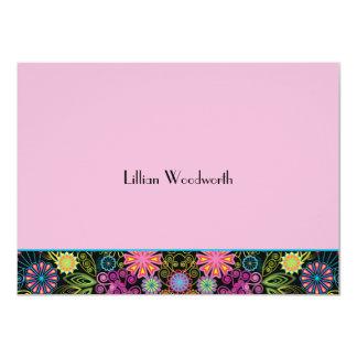 Duchas del brillo Notecard personalizado rosa Invitación 11,4 X 15,8 Cm