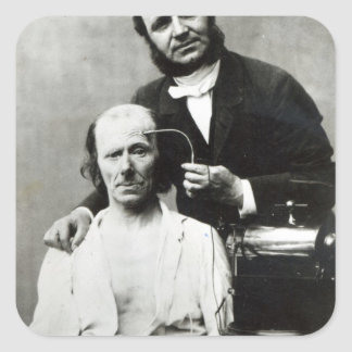 Duchenne de Boulogne con un 'patient de la víctima Pegatina Cuadrada
