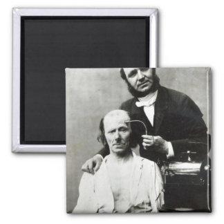 Duchenne de Boulogne with a 'victim patient' 2 Inch Square Magnet