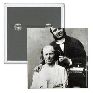 Duchenne de Boulogne with a 'victim patient' Button