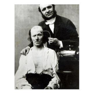 Duchenne de Boulogne with a 'victim patient' Postcard