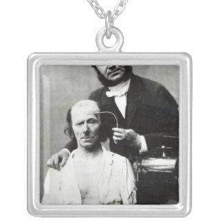 Duchenne de Boulogne with a 'victim patient' Square Pendant Necklace