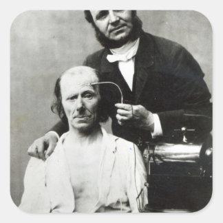 Duchenne de Boulogne with a 'victim patient' Square Sticker