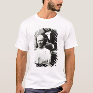 Duchenne de Boulogne with a 'victim patient' T-Shirt