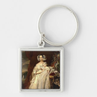 Duchess Helene Mecklembourg Strelitz Silver-Colored Square Keychain