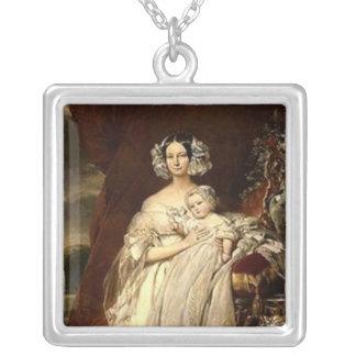 Duchess Helene-Mecklembourg-Strelitz Square Pendant Necklace