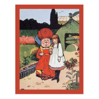 Duchess in Garden With Alice Postcard
