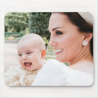 Duchess Kate and Prince Louis Mouse Pad