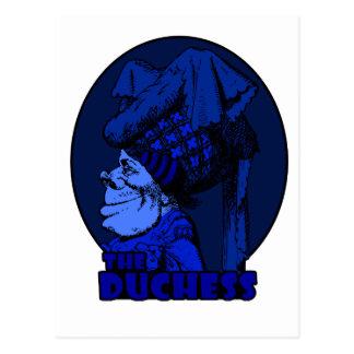 Duchess Logo Blue Postcard