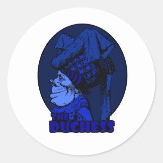 Duchess Logo Blue Classic Round Sticker