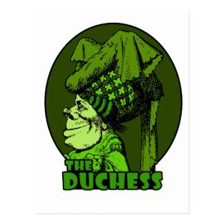 Duchess Logo Green Postcard