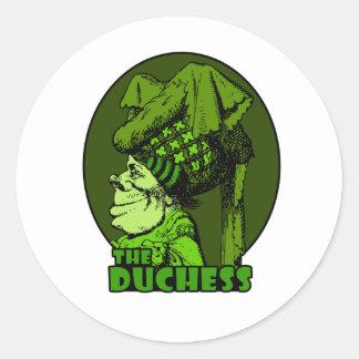 Duchess Logo Green Classic Round Sticker