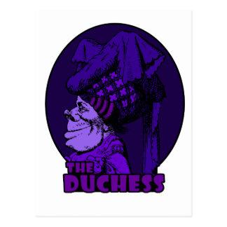Duchess Logo Purple Postcard