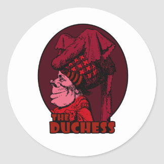 Duchess Logo Red Classic Round Sticker