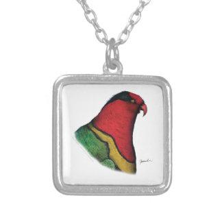 duchess lorikeet, tony fernandes square pendant necklace