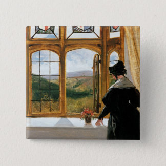 Duchess of Abercorn looking out of a window Pinback Button