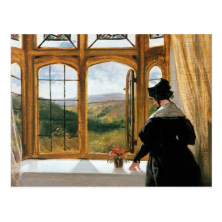 Duchess of Abercorn looking out of a window Postcard