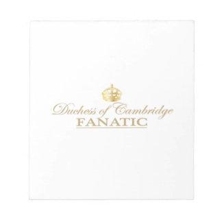 Duchess of Cambridge Fanatic Notepad