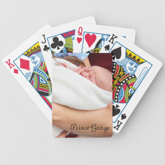 Duchess Of Cambridge Holding Newborn Son Bicycle Playing Cards