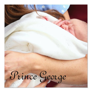 Duchess Of Cambridge Holding Newborn Son Card