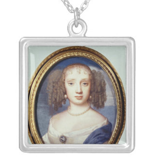 Duchess of Orleans, c.1665 Square Pendant Necklace