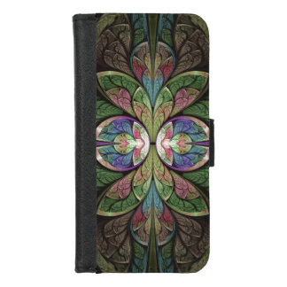 Duchess of Sauchiehall Abstract Stained Glass iPhone 8/7 Wallet Case