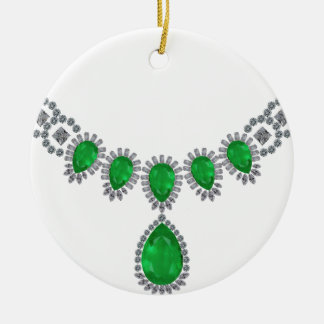 Duchess of Windsor's Emeralds Double-Sided Ceramic Round Christmas Ornament