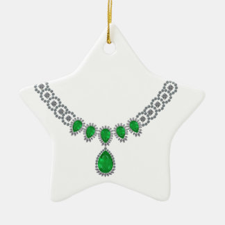 Duchess of Windsor's Emeralds Double-Sided Star Ceramic Christmas Ornament