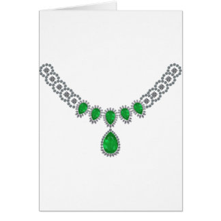 Duchess of Windsor's Emeralds Greeting Card