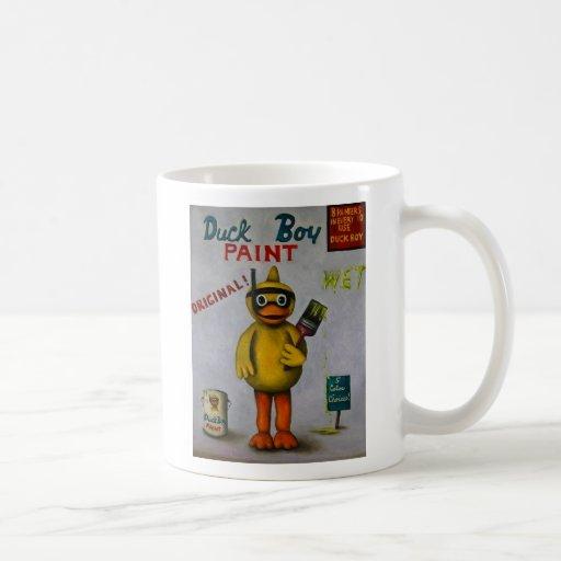 """Duck al muchacho 2, """"PINTURA del MUCHACHO del PATO Taza De Café"""