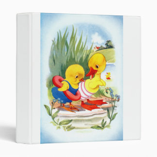 Duck and chick 3 ring binder