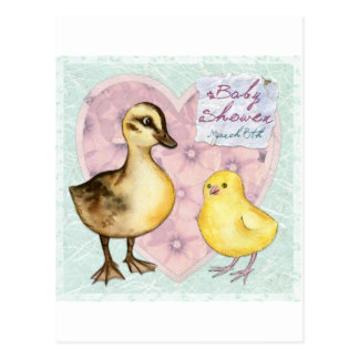 Duck and Chick Baby Shower Postcard