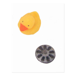 Duck and drain relationship postcard