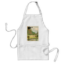 Duck and Ducklings Swimming on the River Adult Apron