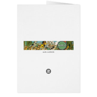 Duck and Ducklings Swimming on the River Greeting Card