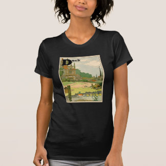 Duck and Ducklings Swimming on the River Tee Shirt