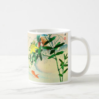 Duck and Goldfish in Pond Mug