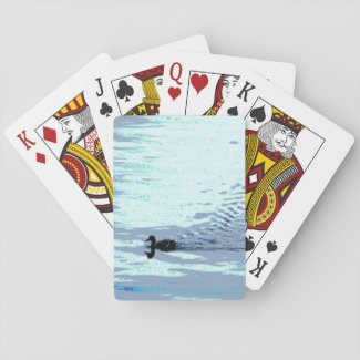 Duck and Lake Ripples Playing Cards
