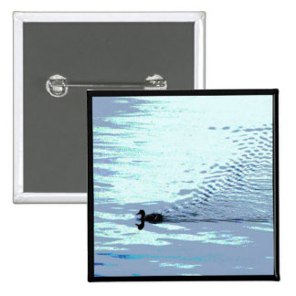 Duck and Ripples Pinback Button