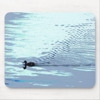 Duck and Ripples Mouse Pad